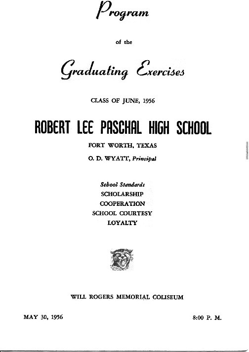 Graduation Program  Paschal High School Class Of