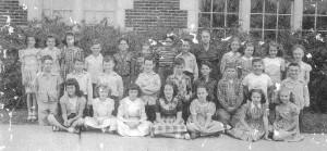 1947 - 48 4th Grade Class of Mrs. Sidney Farrington - Geo C Clark Elem