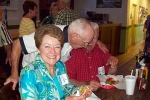 Nancy Hankins Swan, Ray Gilbert PHS'55 (husband of Shirley Pulliam Gilbert), Rodney Swan
