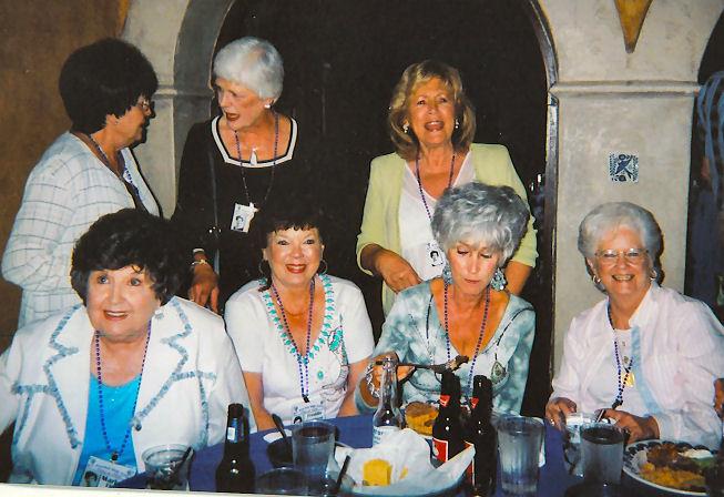 Marlene Floyd Whitfill, Freddie Garrison McNeel, Nancy Hooser Gaines, Shirley Pulliam Gilbert...back row, ?, Julie Tipton Cochran and Martha Spain Rippy