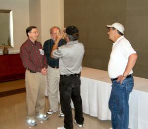 Burt Rakoover, Charles Wright and Glen Haughton & Joe Nix surveying the scene