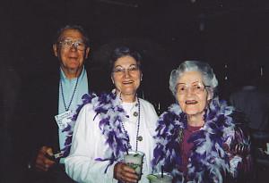 Sam Teague, Carol Stow Teague and Jean Stow (Carol's Mom)