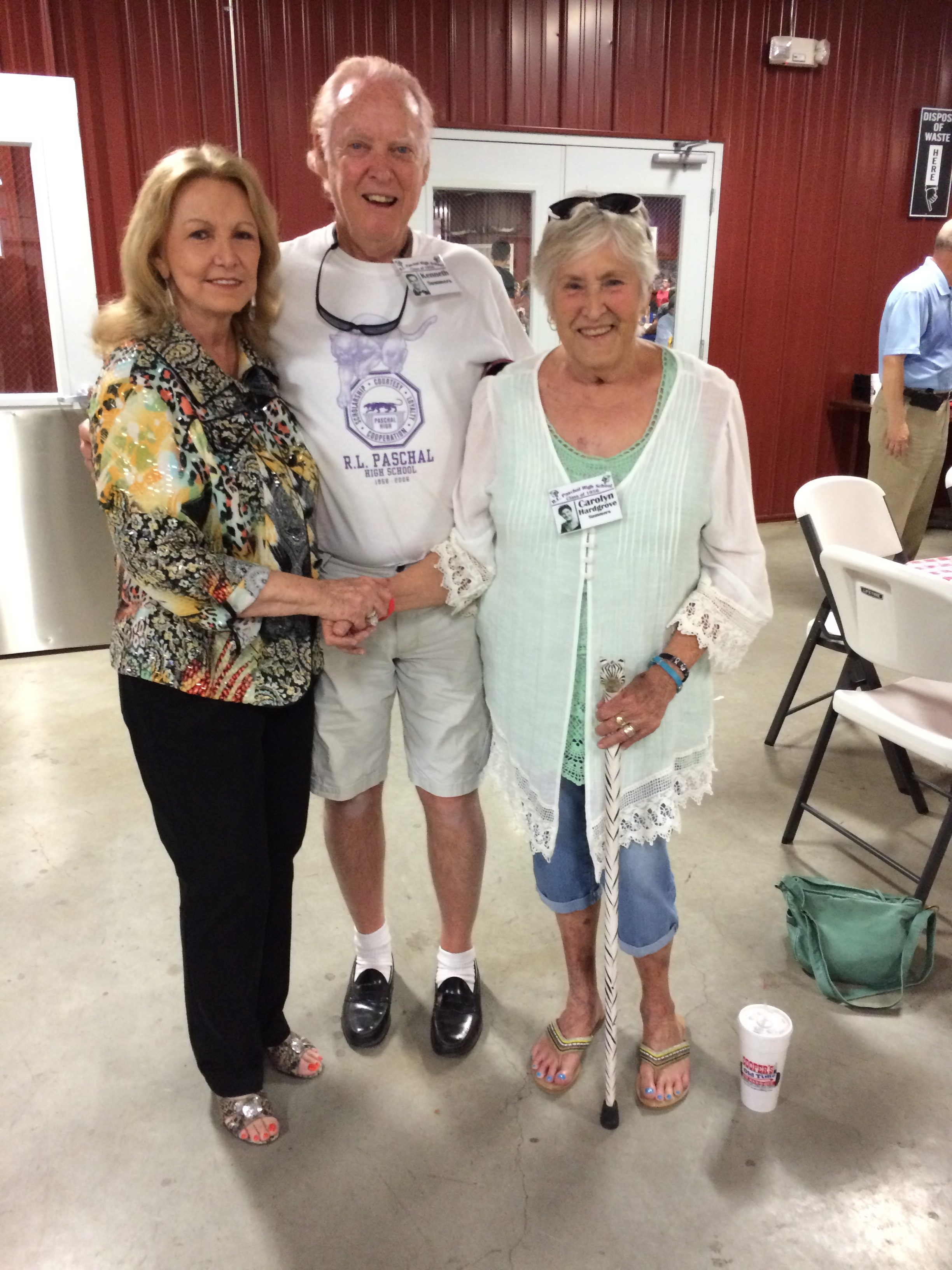 Wanda Cunningham Walker, Ken Summers and Carolyn Hardgrove Summers