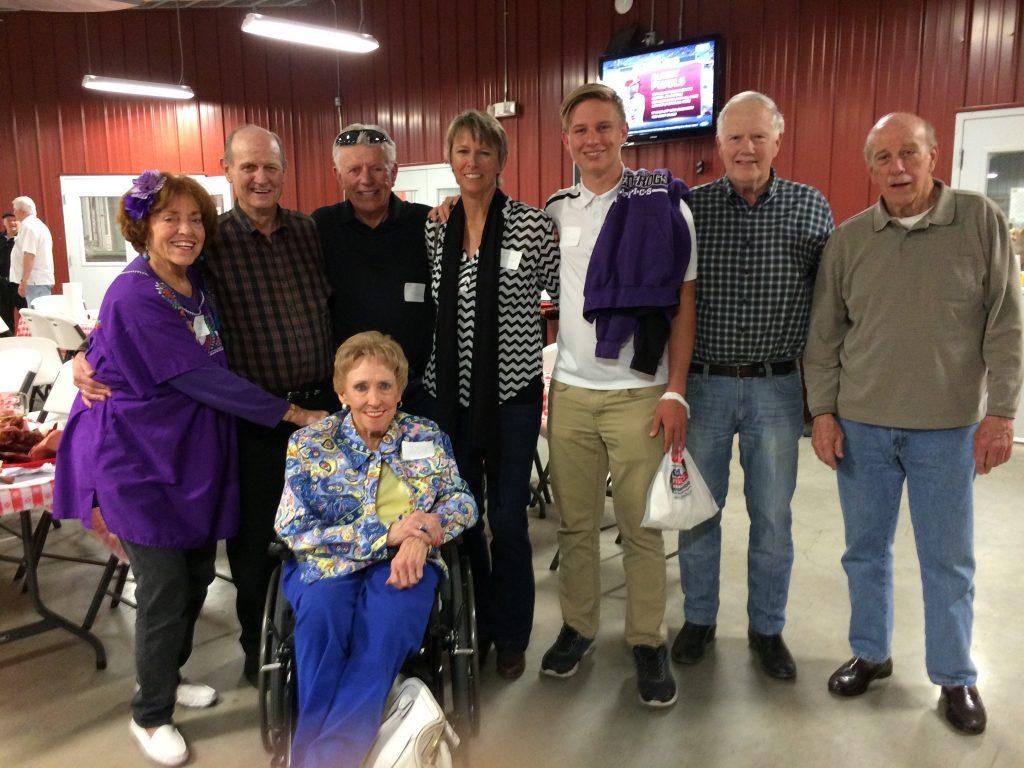 Judy Harris Staser (front), Marion Wiley Fersing, Wayne Esslinger, Gary McLeod, McLeod, Drew McLeod, Richard Walsh, Bobby Tyler