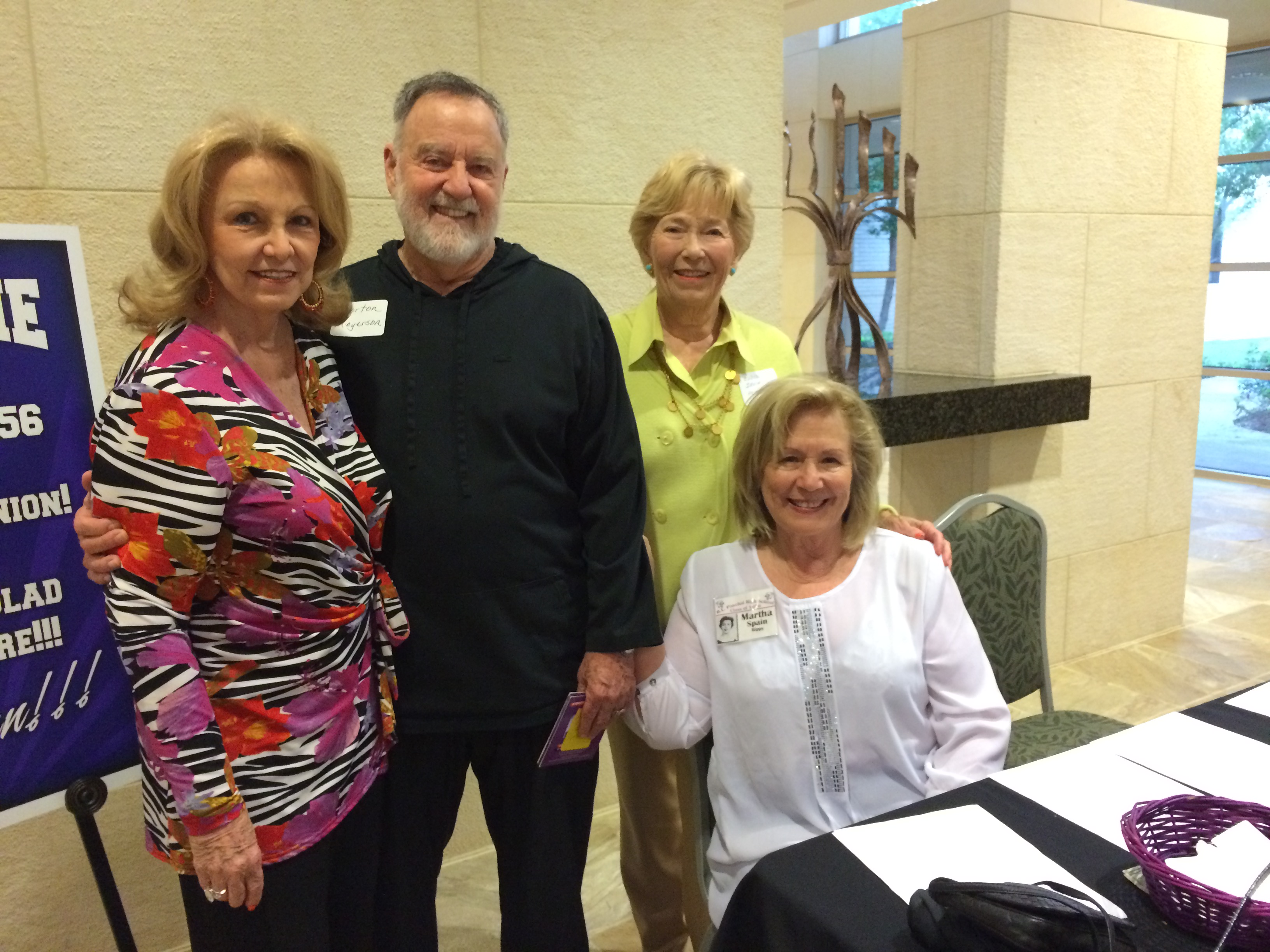 Wanda Cunningham Walker, Morton Meyerson, Ludie Irvin Heineman, Martha Spain Rippy (seated)