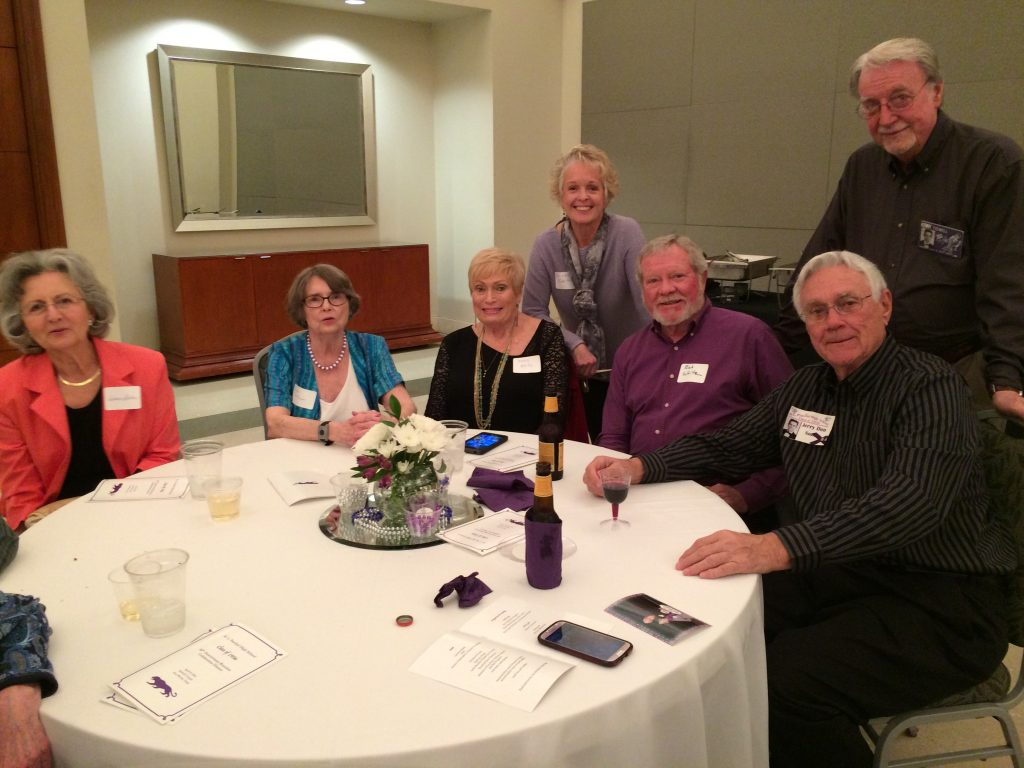 Standing: Diane Smith and Kenny Tidwell, seated: Delores Staller, Sue Coffman, Marty White, Bob White, Jerry Smith