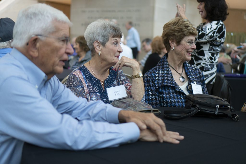 Bill Travis, Peggy Jobe, Jane Mooney Travis