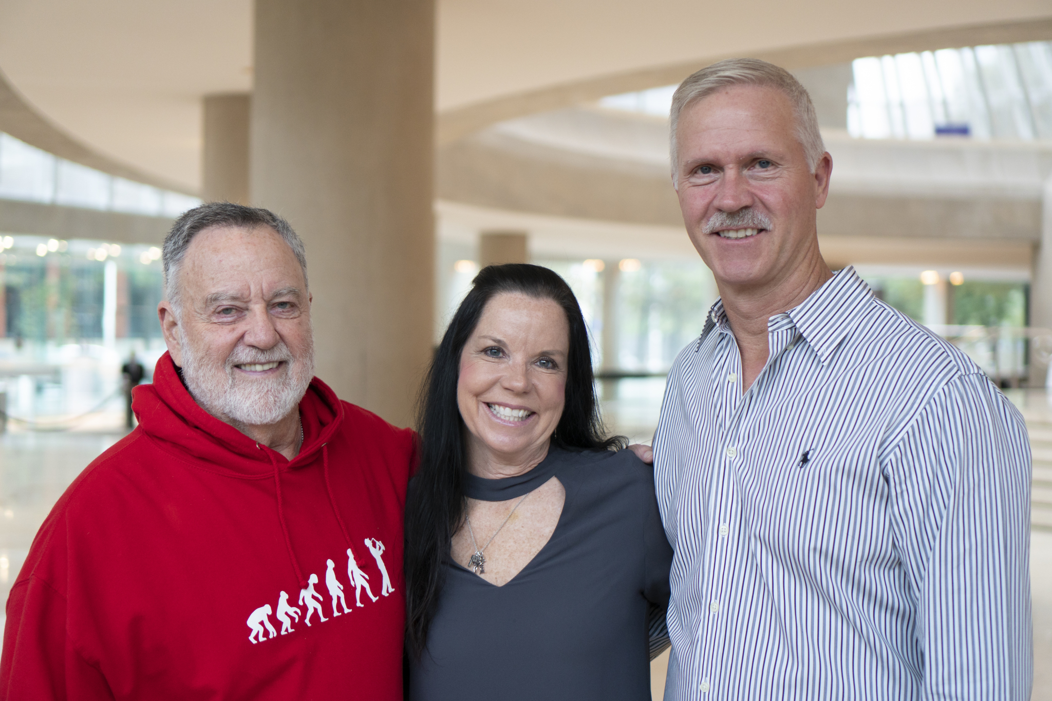 Morton Meyerson with Mimi and Kevin Cox, Freddie Garrison McNeel's daughter and son-in-law