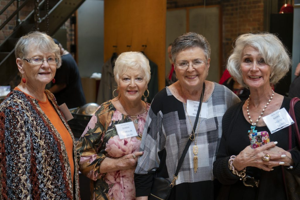 Kathryn Riordan Fairly, Donna McMullin Carruth, Jo Ann Roan Nyvold, Nancy Hooser Gaines