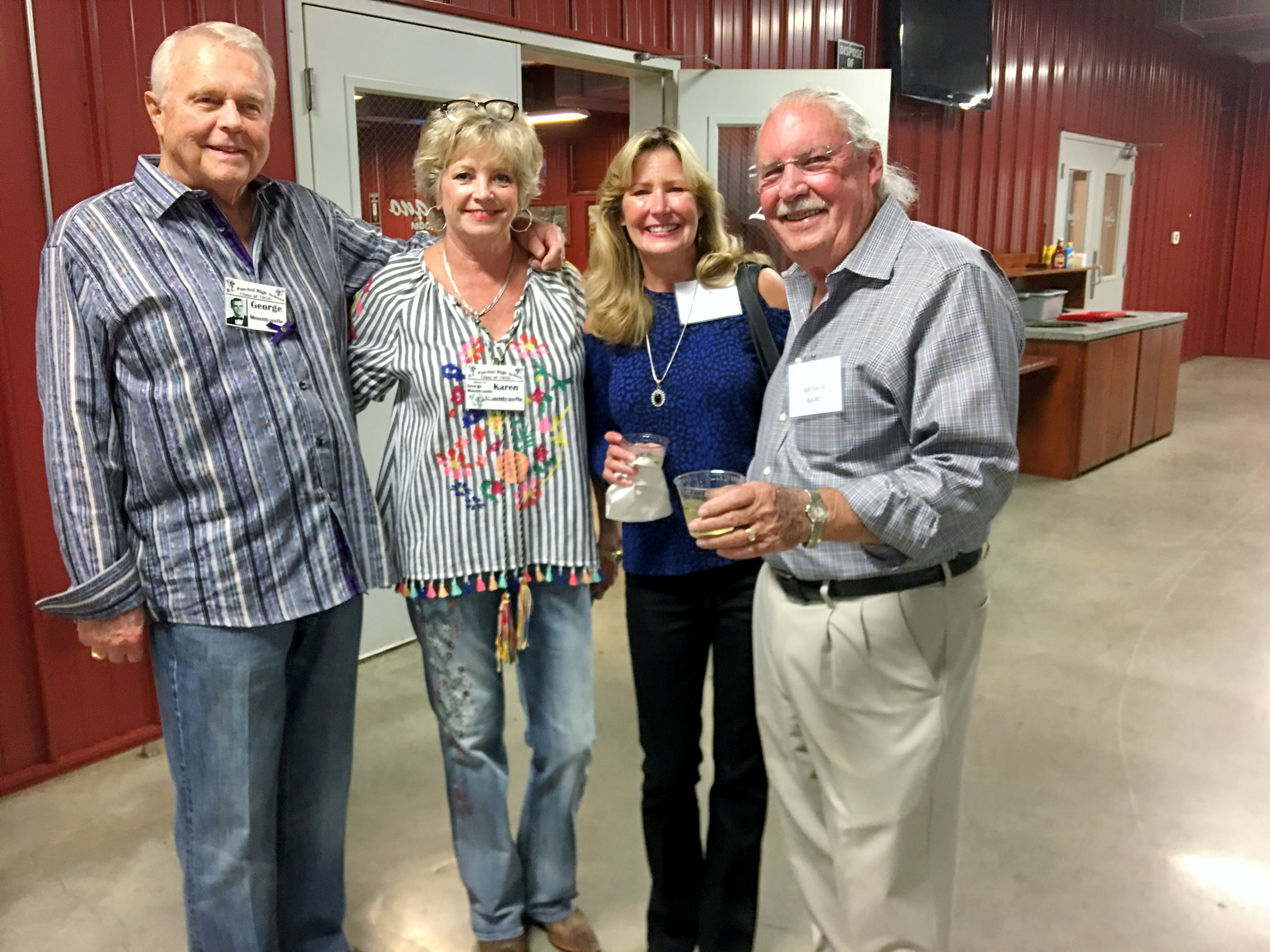 George and Karen Mountcastle, Terri Baird Smalley and Arthur Baird