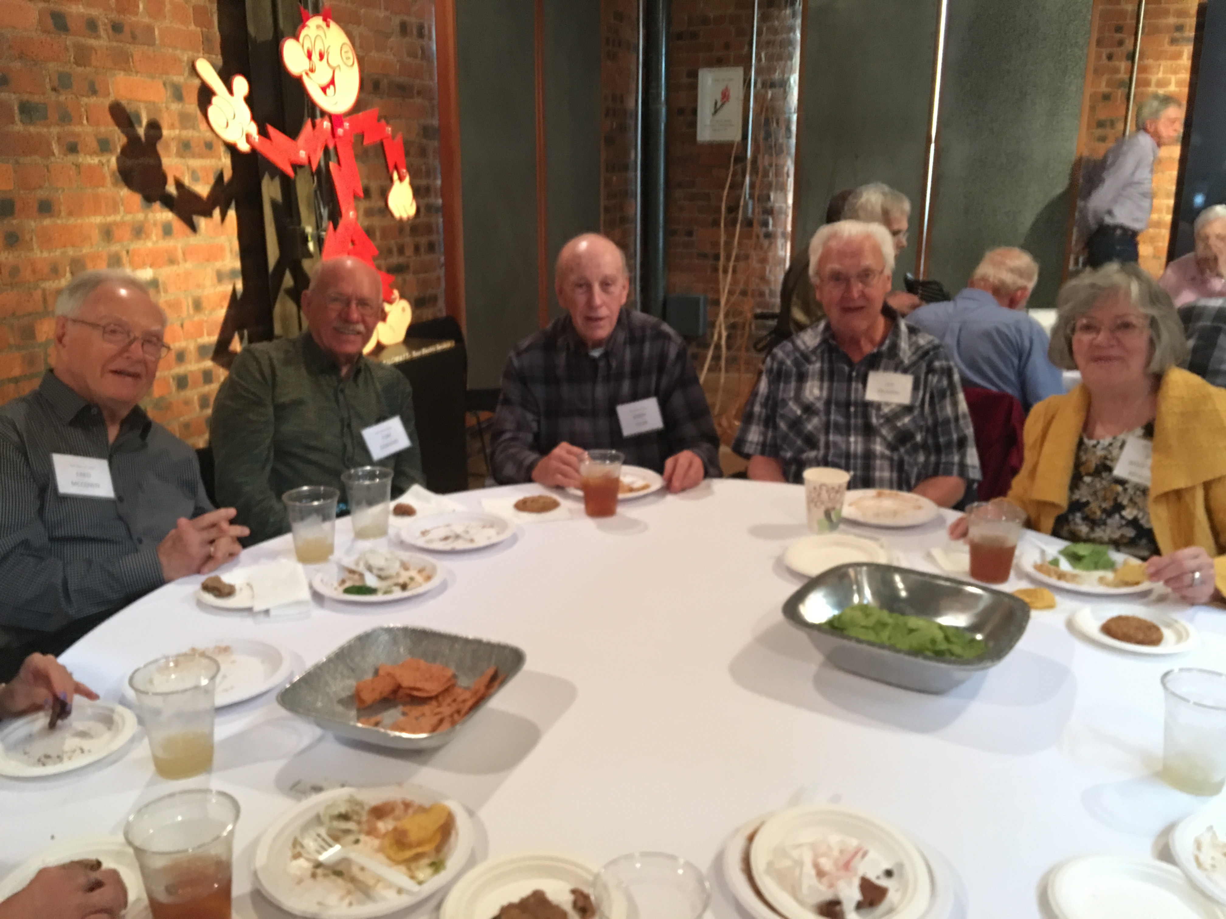 Fred McCown, Tom Gebhard, Bobby Tyler, Leo Krukoski and Sue Woodward Krukoski